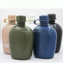 New Multifunctional Multicam Commemorative 1L 1000ml Plastic Military Canteen /Water Bottle Sport water bottle