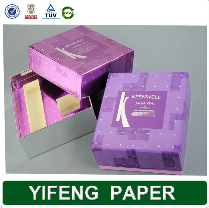 China supplier luxury costom logo art paper folding cosmetic box with plastic tray