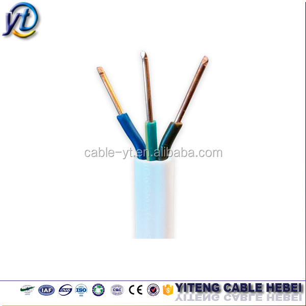 2.5mm twin and earth cable BVVB flat pvc electric wires price