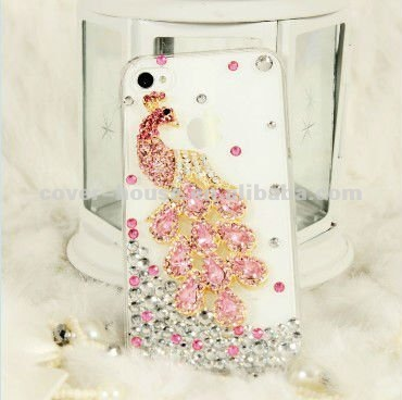 2012 Newest for iPhone 4s case, luxury crystal diamond peacock case for iPhone 4 4S, Crystal case