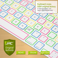 JRC Glow In the Dark Silicone Protective Skin Film keyboard Cover for Macbook Pro Retina 13 15 17, US Layout