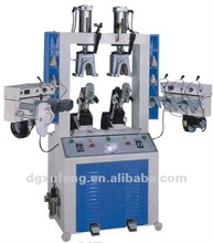 shoe counter moulding machine with two hots & six cold stations for aig bag version