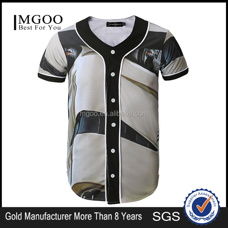 100 Polyester Full Dye Custom Sublimation Blank Plain Sublimated Baseball Jersey