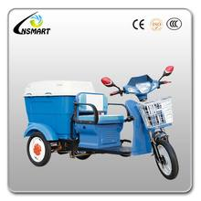New designed electric garbage tricycle for sale