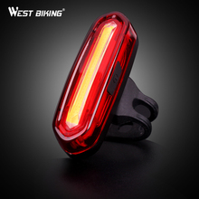 WEST BIKING Waterproof Bicycle USB Rechargeable Caution Safe Light And Six Modes Super Bright Splash-proof LED Bike Rear Light