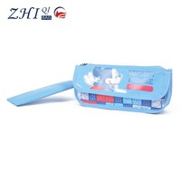 New design carton fabric handle pencil bag fashion student pencil case for teens