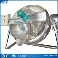stainless steel double jacketed agitator steam jacketed kettle CE certificate