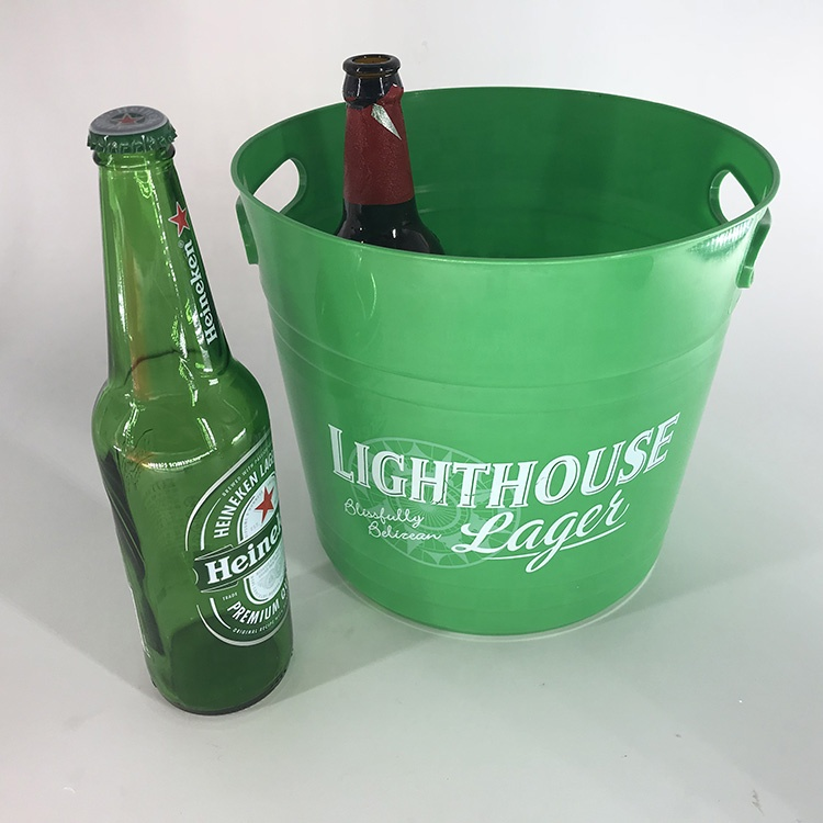 Custom logo high quality wine promotional gifts beer plastic ice bucket
