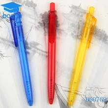 New products 2015 beautiful clear tubes plastic pen cheap