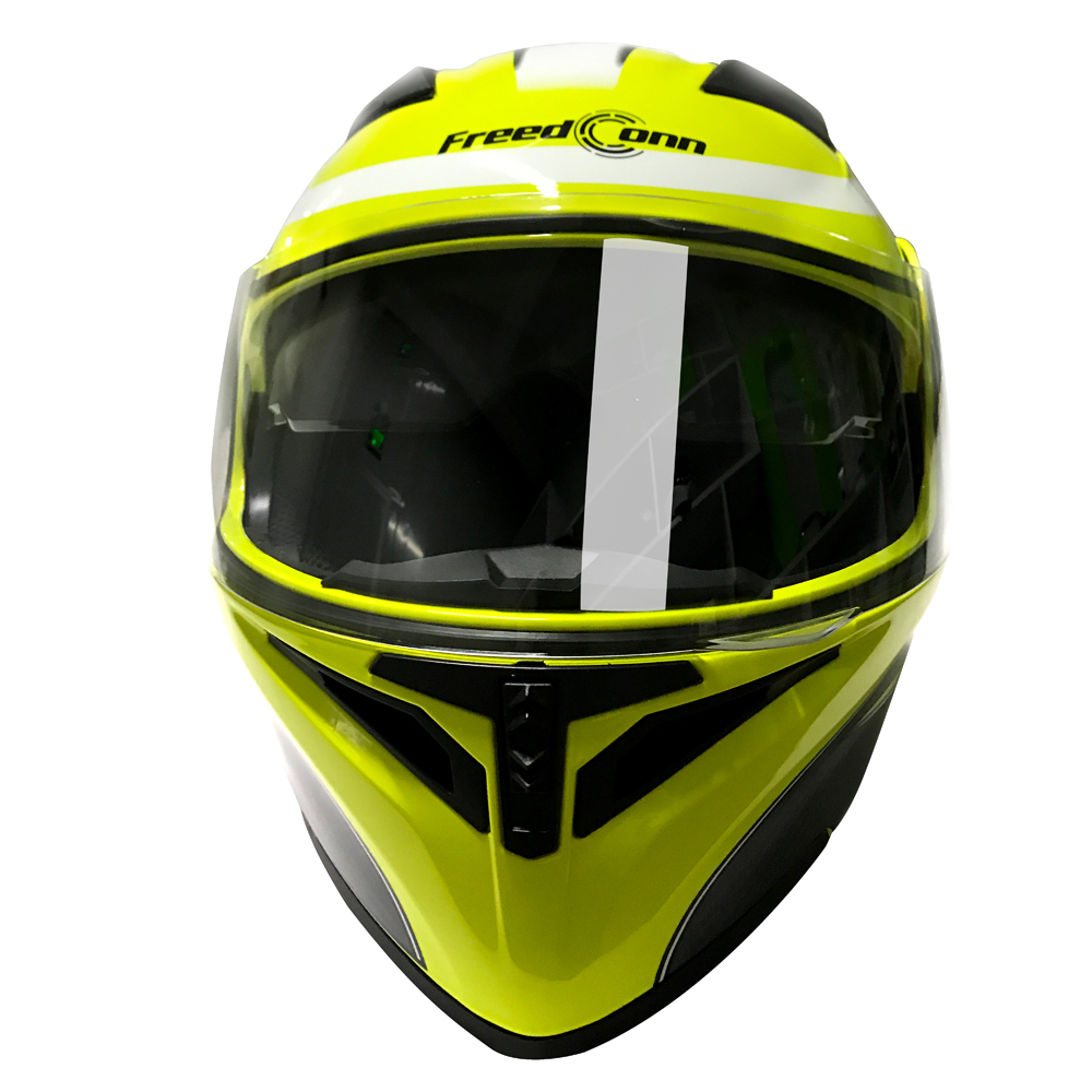 DOT certified helmet for 8 people 1500M group talking smart BT helmet built-in Bluetooth 4.1 with double sun visor+FM radio