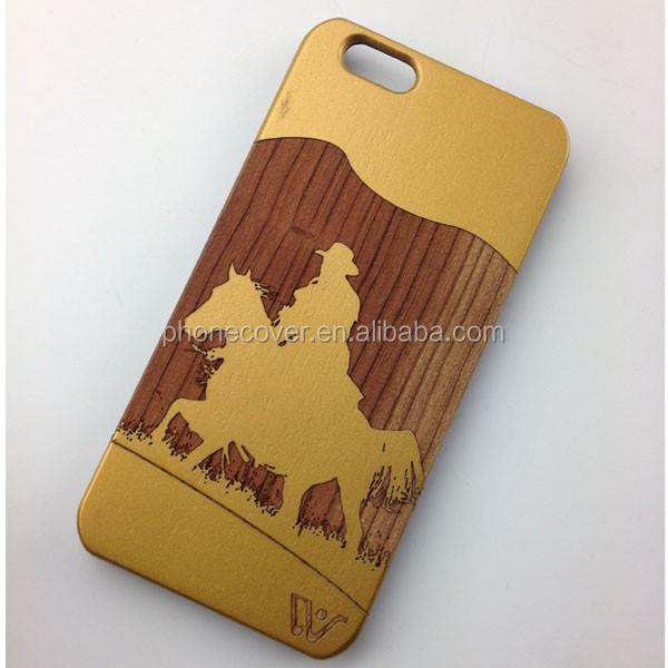 High Quality Bamboo PC Real Wood Phone Case for iPhone 5,for iPhone 6,for iPhone 6plus