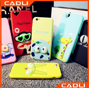 Cheap 3D silicone TPU cartoon mobile phone case for iPhone 7