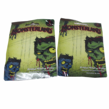 Halloween window decorative pe banners door also use plastic caution tapes