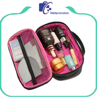Quilted small pu leather makeup vanity case for women