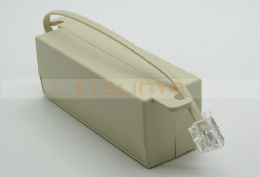 RJ11 6P4C M to 6P2C F 5 Way Telephone Splitter Extender Adapter