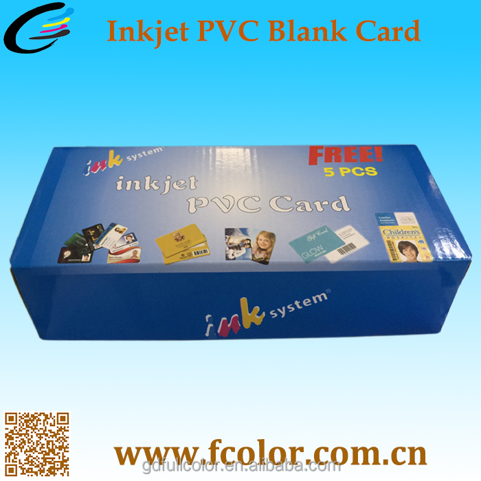 China manufacturer PVC Business Card for Sale Blank PVC ID Card