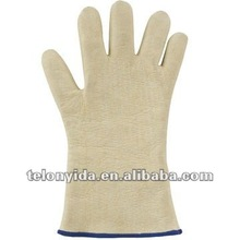 Cream Color High quality Food Processing 250deg.C Meta-aramid Felt Heat Resistant Safety Working Gloves