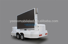 Outdoor full color bright mobile led display trailer with onboard digital control equipment, onboard generator