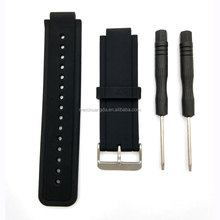 Custom Replacement Silicone Rubber watch band with Metal Clasps for Smart Sport Watch