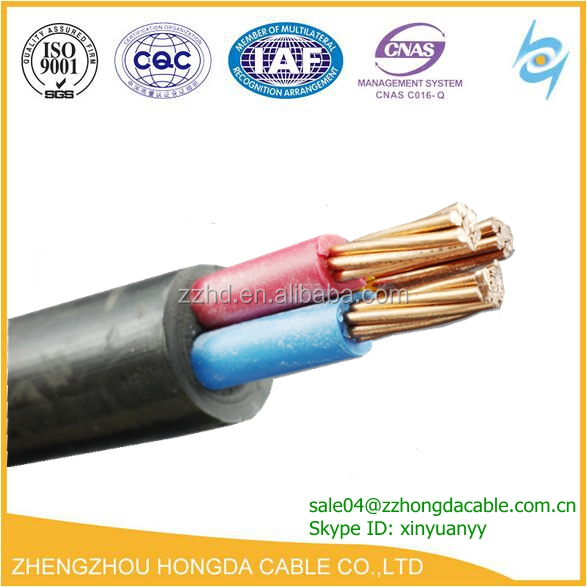 IEC 60502-1 0.6/1kV copper electrical wire pvc insulated Unarmored PVC sheathed xlpe lsoh 3x150 power cable