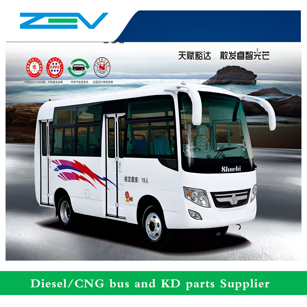 ZEV 6 meters diesel city bus mini bus design color for city transit