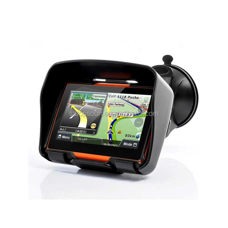 4.3inch moto navigation gps/ mini gps tracker for motorcycle
