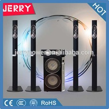 5.1 home theatre surround sound speaker with bluetooth /home stereo system with fm radio with remote control