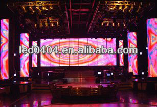 P7.62 indoor full color stage background led display big screen