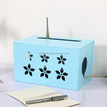 Hollow Flower Cable Box Electrical Outlet Power Strip Wire Cord Organiser Storage Box Tidy Device Cable Tidy Box