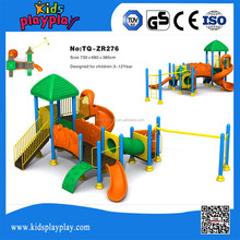 latest open air play structure plastic slide outdoor playground Natural Series
