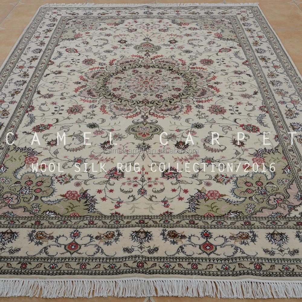 de lana y seda alfombra persa dise o zona blanca lana On alfombras de seda india