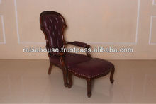 French Furniture - Classic Victorian Grandfather & Foot Stool