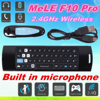 3-in-1 2.4GHz wireless Keyboard Fly Air Mouse + Remote control+ Mic Speaker Mele F10 Pro