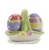 Easter Eggs Salt & Pepper Shakers in a Basket