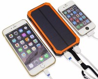 High Charge Rate Travel Solar charger Waterproof Solar Power Bank Portable Power Bank