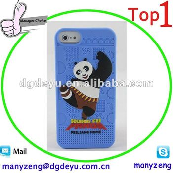 Silicone kungfu panda cases for iphone 5