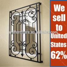European Style Simple Galvanized Steel Casement Window Grill Design Wrought Iron Window