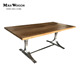 furniture wood top and stainless steel dining table