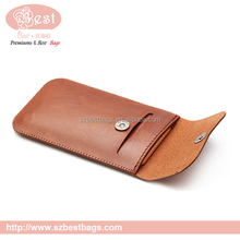 universal two mobile phones genuine leather wallet phone case