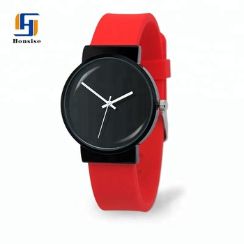 China manufacturer New Custom Waterproof Silicone Simple Sport Quartz Watch