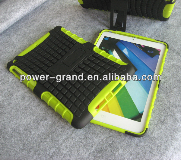 Kickstand PC TPU armor case cover for iPad Mini 2