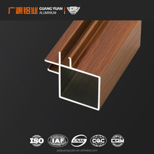 LI-014A, Libya, Wooden Color Aluminum frame for Kitchen Cabinet