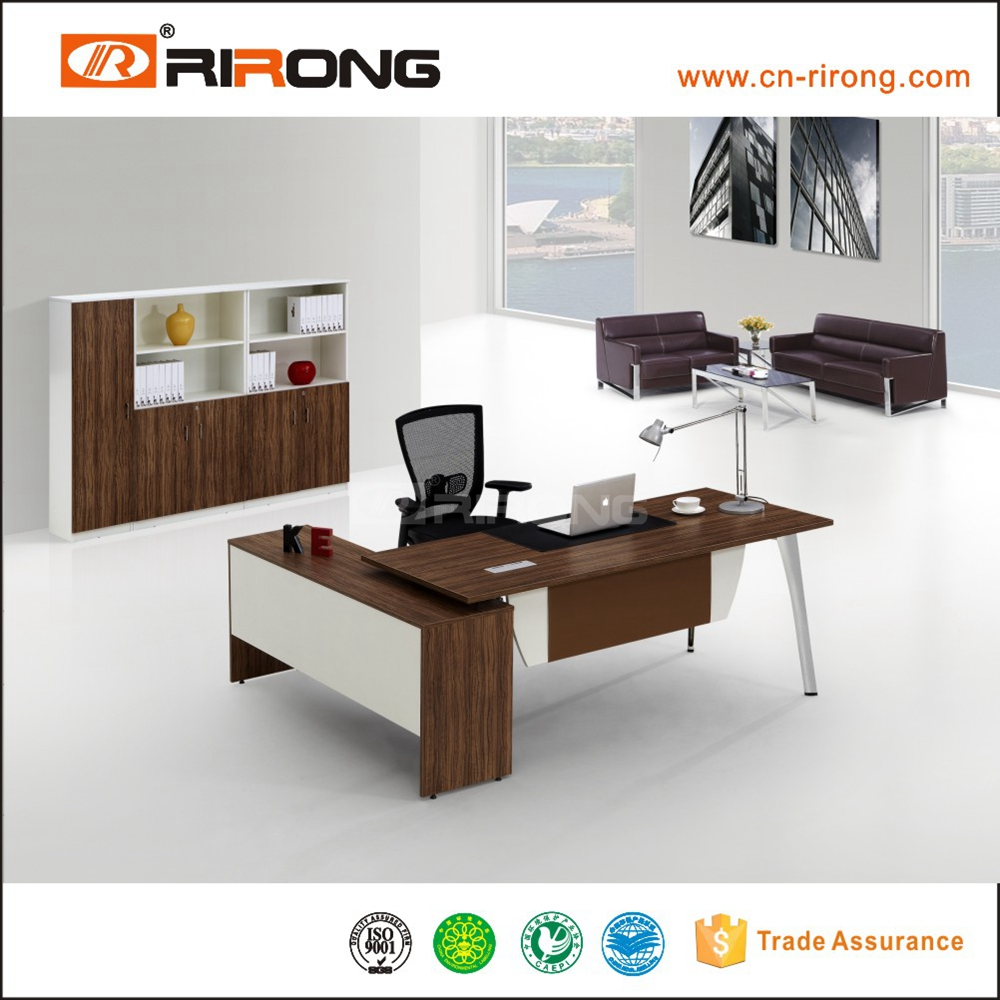 Latest fashion simple design home office furniture l shape for Simple office furniture design