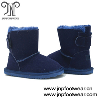 cheap suede leather kids snow boots