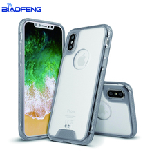 New promotional product 2017 clear acrylic phone case for iphone X simple slim and hard cover good phone protector