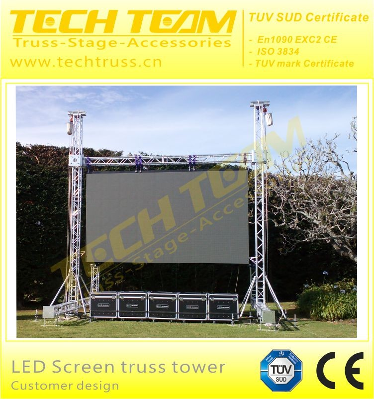 Aluminum LED Screen Truss for Hanging LED Wall Screen