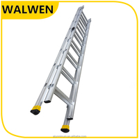 B type flexible 2 section combination step lightweight aluminum extension ladder