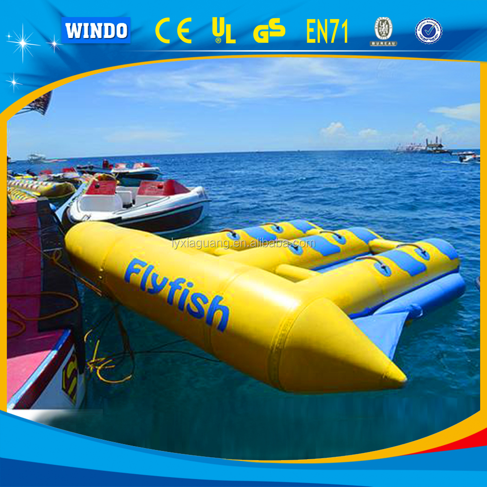 Professional supplier flying boat inflatable fish banana boat
