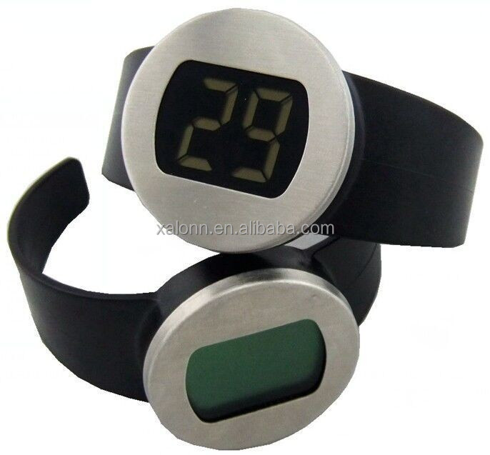 Digital LCD Wine Bottle Thermometer Watch Temperature Checker Red Wine Thermometer For Home Bar