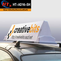 Taxi truck top outdoor advertising signs